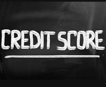 image of credit score on chalkboard